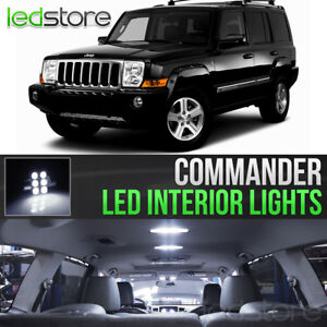 2006 2010 Jeep Commander White Led Lights Interior Kit Package Bulbs