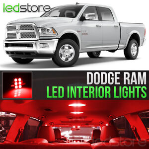 2009 2018 Dodge Ram 1500 2500 3500 Red Interior Led Lights Kit Package
