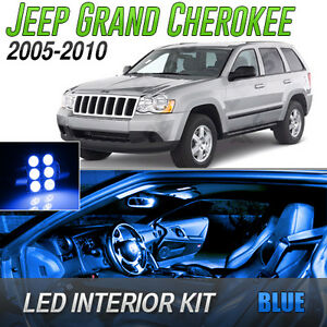 2005 2010 Jeep Grand Cherokee Blue Led Lights Interior Kit