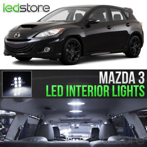 2004 2013 Mazda 3 White Led Lights Interior Kit Package Bulbs Mazdaspeed