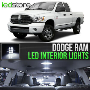 2006 2008 Dodge Ram 1500 2500 3500 White Interior Led Lights Kit Package