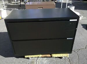 Herman Miller File Cabinet 2 Drawer Lateral 42 Black We Deliver Locally Norca