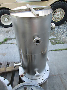 38 x15 Stainless Steel Bell Jar Vacuum Chamber W Base Plate Differential Pump