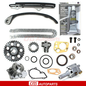 Fits 89 97 2 4l Nissan 240sx D21 Pickup Timing Chain Kit Water Oil Pump Ka24e