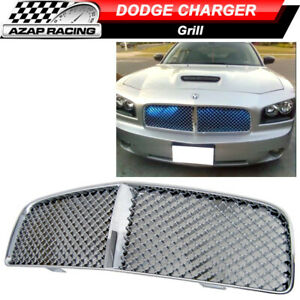 2006 2007 2008 2009 2010 Mesh Chrome Front Hood Grill Grille Fits Dodge Charger