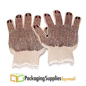 Double Dotted Cotton Knit Work Gloves Black For Women s 240 Pairs 20 Dozen