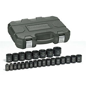 Gearwrench 25 Piece 1 2 Drive Impact Socket Set Metric 84933n
