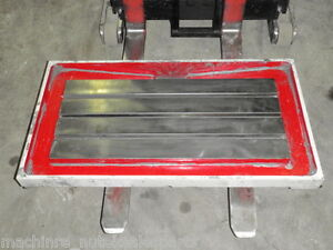 15 75 X 35 25 Steel Welding T slotted Table Cast Iron Layout Plate T slot 6471