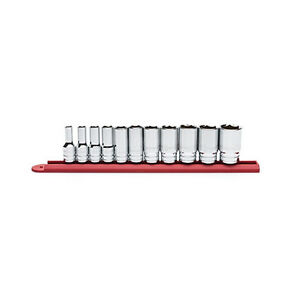 11pc Gearwrench 3 8 Drive 6 Point Mid Length Sae Metric Socket Set Rail 80555s
