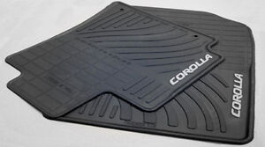 Toyota Corolla 2009 2013 Black Rubber All Weather Floor Mats Set Of 4 Oem New