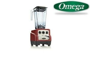 Omega 480 3hp Blender With On off Variable Speed Timer Bl480red