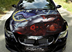 Dragon Full Color Graphics Wrap Decal Vinyl Sticker Fit Any Car Hood 164