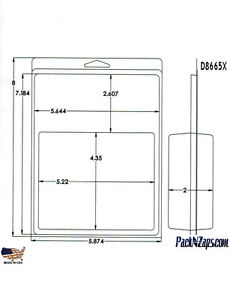 D8665x 200 8 h X 6 w X 2 d Clamshell Packaging Clear Plastic Blister Pack