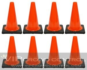 Jbc Safety Plastic Revolution Series Traffic Cone 8 Pcs Set 12 Ht Rs30008c
