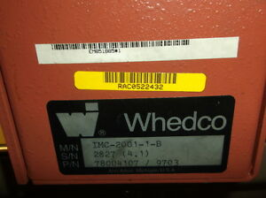 Whedco Stepper Drive Imc 2001 1 b Used