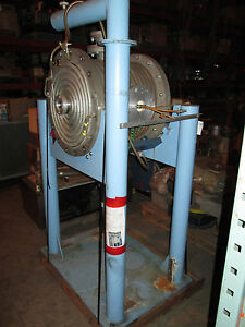 20 X 20 Water Cooled Round Ss High Vacuum Chamber W Many Ports