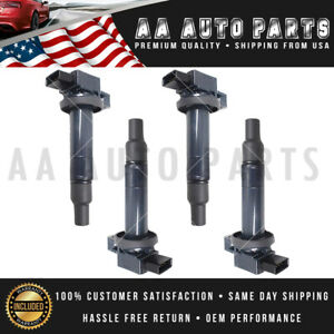 4x Ignition Coil 2001 2010 For Toyota Yaris Prius Xa Xb Echo 1 5l Uf316