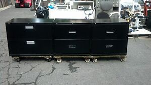 Hon File Cabinet 2 Drawer Lateral 30 w Lock Key Black We Deliverlocallynorca