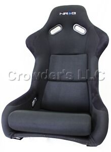Nrg Frp Fiber Glass Bucket Seat Large Black Part Frp 300