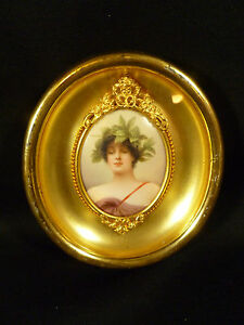 Fantastic Hutschenreuther Painting On Porcelain Signed By Wagner Circa 1885