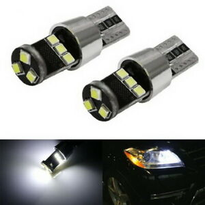 Hid Match White 9 Smd Can Bus Error Free 2825 W5w Led Parking Eyelid Light Bulbs