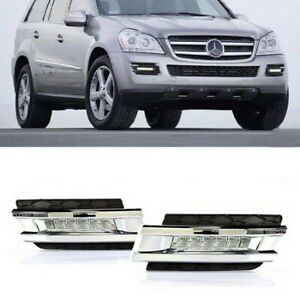 Direct Fit 12w Led Daytime Running Lights Drl For 2007 09 Mercedes X164 Gl Class