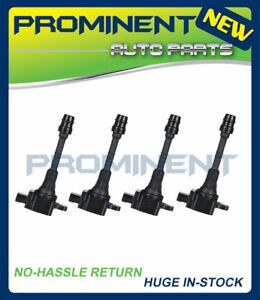 Pack Of 4 Uf351 New Ignition Coil For 2002 2006 Nissan Sentra Altima 1 8l L4