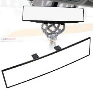 Jdm 300mm Wide Curve Interior Clip On Rear View Mirror Fit Most Car Suv Truck