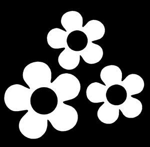60 S Flower Vinyl Decals Stickers For Car Or Van White