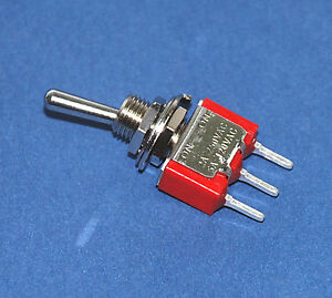 100pc Miniature Toggle Switch 1ms1t1b1m2qes On on 3p Spdt 2a250v 5a120v Pcb Pin
