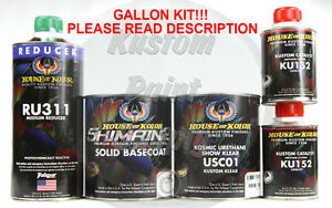 House Of Kolor S2 25 Jet Black Shimrin2 Base And Clear Gallon Kit