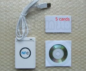 Nfc Acr122u Rfid Contactless Smart Reader Writer usb Sdk Mifare Ic Card