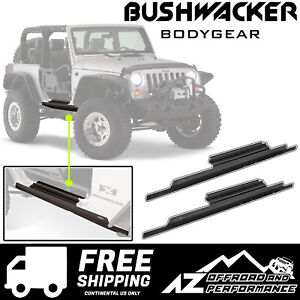 Bushwacker Door Sill Rocker Panel Trail Armor For 07 18 Jeep Wrangler Jk 2 Dr