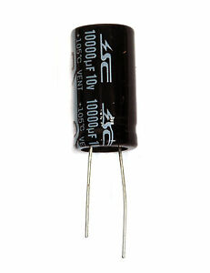 100pc Electrolytic Capacitor Km 10000uf 10v 105 2000hrs 16x30mm Radial Rohs Sc