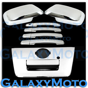 Chrome Mirror 4 Door Handle full Tailgate Cover For 05 12 Nissan Frontier