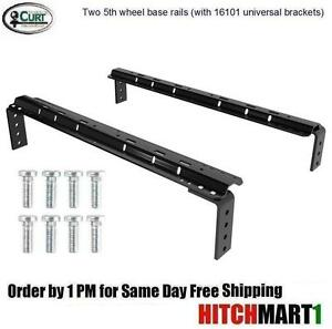 Curt Base Rail Kit W Universal Brackets For 5th Wheel Trailer Hitch 16200