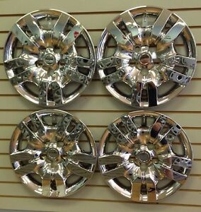 New Bolt On Chrome Hubcap Wheelcovers That Fit 2007 2012 16 Nissan Altima