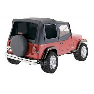 Rampage 99415 Factory Replacement Soft Top Black For 88 95 Jeep Wrangler Yj