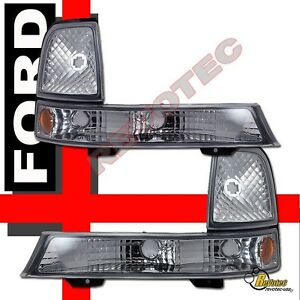 1998 1999 2000 Ford Ranger Parking Signal Bumper Lights 1 Pair