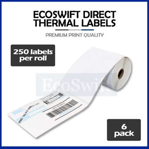 6 Rolls 250 4 X 6 For Zebra 2844 Eltron Direct Thermal Printer 1500 Labels 4x6