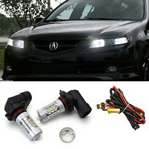 Xenon White 80w 9005 Cree Led High Beam Daytime Running Light For 07 08 Acura Tl