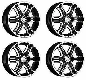 Gearalloy 713mb Double Pump 713mb 6806100 Set 4 Rims 16x8 0mm Machined