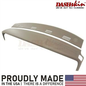 Dodge Ram 02 03 04 05 Molded Dash Cover Skin Cap Overlay 2pc Kit Taupe