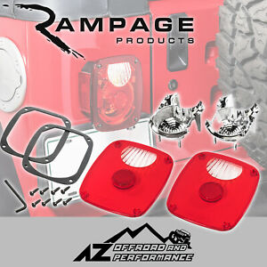 Rampage Diamond Brite Tail Light Conversion Kit Fits 76 06 Jeep Cj 7 Wrangler