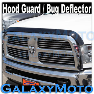 Black Smoke Bug Shield Air Deflector Hood Guard For 10 15 Dodge Ram 2500 3500 hd