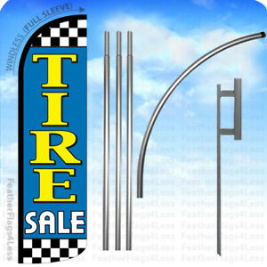 Tire Sale Windless Swooper Feather Flag Kit Banner Sign Ckbq