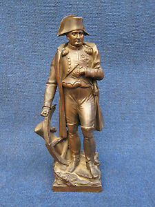 Bronze Statue Napoleon Standing By B Barrault In Good Condition 1850 1899