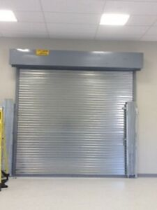 6w X 8h Ul Classified 3 Hour Fire Rated Roll Up down Manual Steel Door