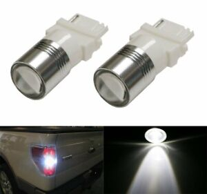 White High Power 3156 3157 Led Backup Reverse Light Bulbs Powerd By 5w Cree Xp E