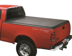 Lund 90086 Black Vinyl Genesis Snap Tonneau Cover Bed For Toyota Tacoma 5 Ft Bed
